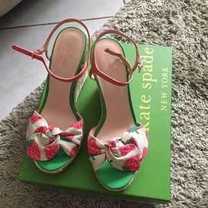 BNIB Kate Spade Strawberry Wedges